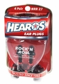 Hearos 4309 Rock N Roll Series Ear Plugs (NRR 27) (4 Pairs w/ Case)