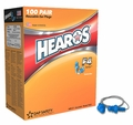 Hearos F4 Series 7422 Reusable Ear Plugs (NRR 27) - CORDED (Case of 400 Pairs)