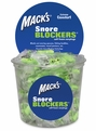 Mack's® Snore Blockers™ Soft Foam Ear Plugs (NRR 32) (Tub of 100 Individually Wrapped Pairs)