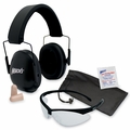 Mack's Shooters Double-Up Ultimate Shooting Safety Kit (NRR 34) (Earmuffs + Ear Plugs + Glasses)