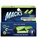 Mack's Corded Foam Shooting Ear Plugs (NRR 32) (2 pairs w/Carry Case)