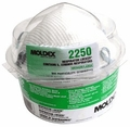 Moldex 2250 Respirator Locker with 5 Model 2200 N95 Masks with Latex Straps Med/Lg Only (N95) (Case of 27 Lockers-5 Masks per Locker)