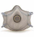 Moldex 2315 N99 Disposable Respirator with Adjustable Cloth Straps & Button Valve Med/Lg Only (N99) (Case of 60 Masks)