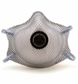 Moldex 2400N95 Plus Nuisance Organic Vapors Disposable Respirator with Latex Straps + Button Valve Med/Lg Only (N95+OV) (Case of 100 Masks)