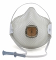 Moldex 2700N95, 2701N95 Disposable Respirator with Cloth HandyStrap & Ventex Valve (N95) (Case of 100 Masks)