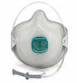 Moldex 2730AN100, 2731AN100 Disposable Respirator with Cloth HandyStrap, Full Face Flange, & Ventex Valve (N100) (Case of 20 Individually Wrapped Masks)