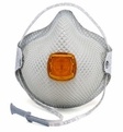 Moldex 2800N95 Plus Nuisance Organic Vapors Disposable Respirator with Cloth HandyStrap + Ventex Valve (N95+OV) (Case of 100 Masks)