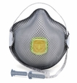 Moldex 2840R95 Plus Nuisance Organic Vapors Disposable Respirator with Cloth HandyStrap & Ventex Valve (R95+OV) (Case of 100 Masks)