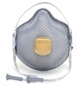 Moldex 2940R95 Plus Nuisance Acid Gases Disposable Respirator with Cloth HandyStrap & Ventex Valve (R95+AG) (Case of 100 Masks)