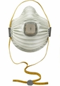 Moldex 4700N100 Airwave Disposable Respirator with Cloth SmartStrap, Full Face Flange + Ventex Valve Med/Lg Only (N100) (Case of 30 Masks)