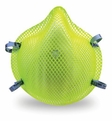 Moldex 2200HVN95 Hi-Viz Disposable Respirator with Latex Straps Med/Lg Only (N95) (Case of 240 Masks)