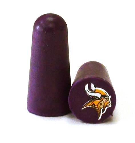 998475aac211bb NFL Ear Plugs - Minnesota Vikings Foam Ear Plugs with NFL Team Colors and  Imprints (NRR 32) (6 Pairs)