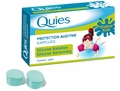 Quies Child Size Moldable Silicone Ear Plugs for Swimmers (3 Pairs)