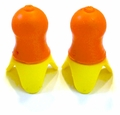 SilentEar Reusable Ear Plugs, Orange Body w/Yellow Flange (NRR 32)