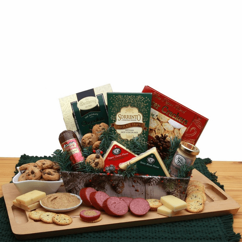 A Rustic Winter  Holiday Tray