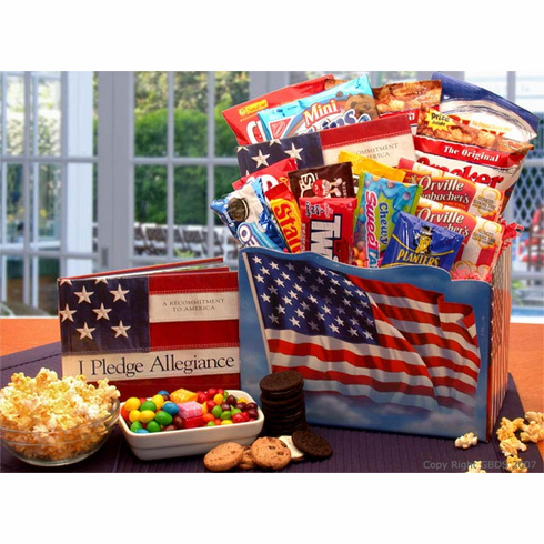 """America the Beautiful"" Snack Gift Box"