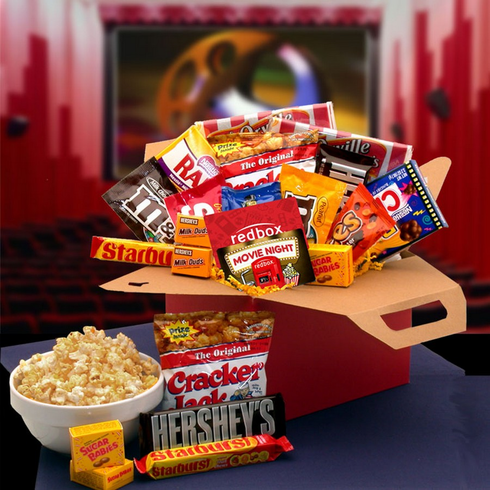 Blockbuster Movie Night Care Package with 10.00 Redbox Gift Card