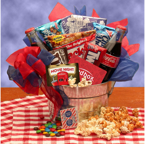 Blockbuster Night Movie Pail with 10.00 Redbox Gift Card