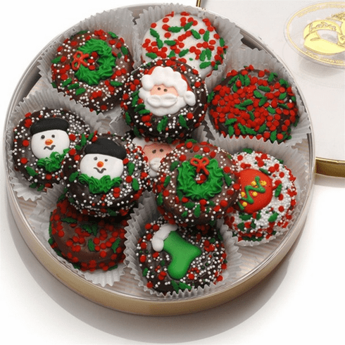 Chocolate-Dipped Holiday Oreo Cookies