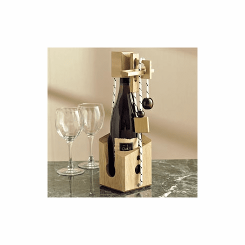 """Don't Break The Bottle"" Wooden Wine Puzzle"