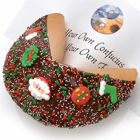 Giant Holiday Fortune Cookie