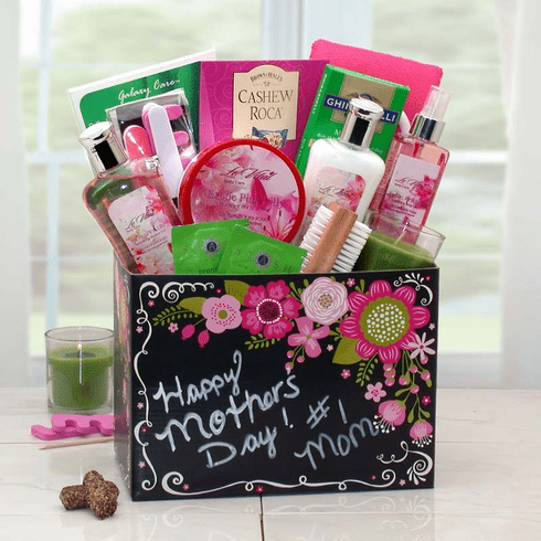 Happy Mothers Day Spa Gift Box w/ Exotic Floral Fragrance