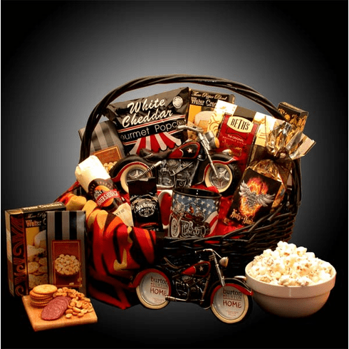 Motorcycle Lovers Gift Basket