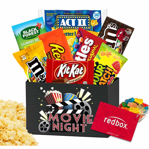 Movie Lovers Care Package with Redbox Rental