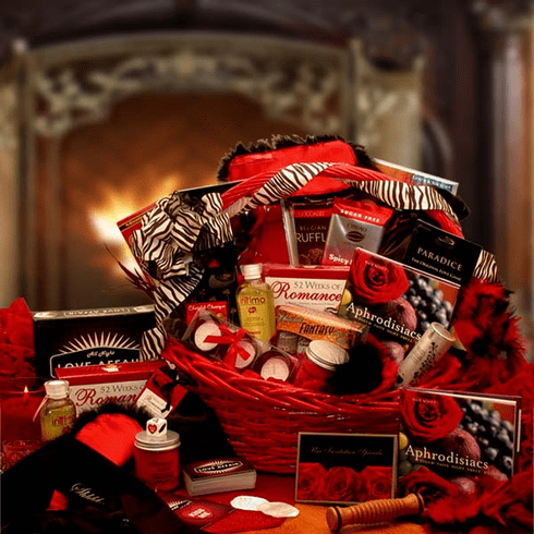 """Naughty Nights"" Romantic Gift Basket"