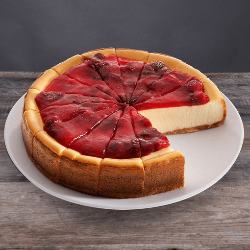 New York Strawberry Topped Cheesecake - 9 Inch