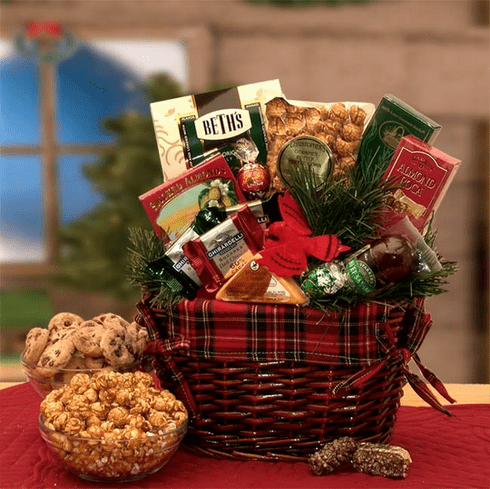 Old Fashioned Christmas Gift Basket