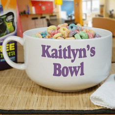 Personalized Any Message Cereal Bowl