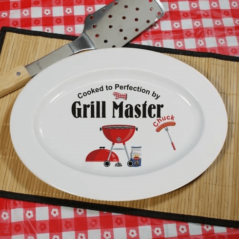 Personalized Barbecue Grill Master Platter