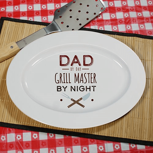 Personalized Barbecue Platter - Grill Master