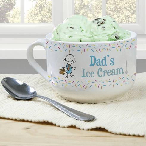 Personalized Ice Cream Bowl for Dad