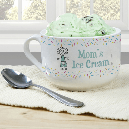 Personalized Ice Cream Bowl for Mom