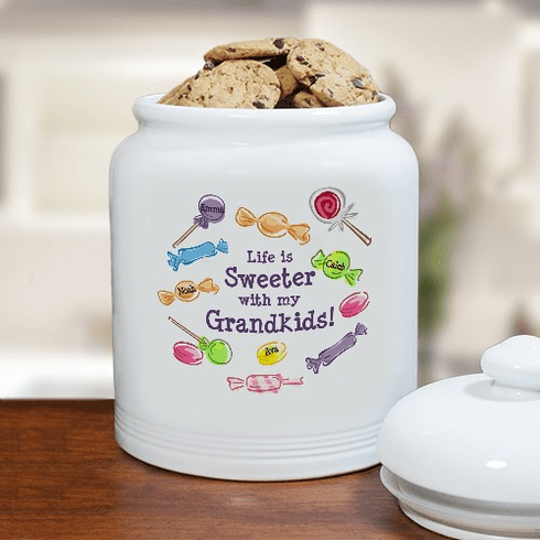 Personalized Life is Sweet Cookie Jar