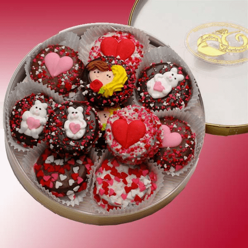 Valentine's Day Double-Dipped Oreo Cookies Tin