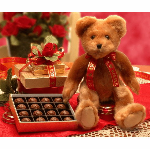 Valentine's Day Teddy Bear Gift Set