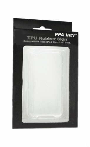 idotConnect TPU Rubber Skin for iTouch 4th Generation (Clear)
