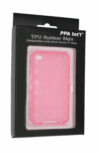 idotConnect TPU Rubber Skin for iTouch 4th Generation (Pink)