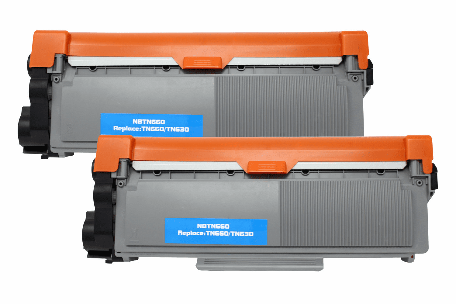 Premium Toner Cartridge Compatible with Brother TN-630/TN-660 (Black, 2 pack)
