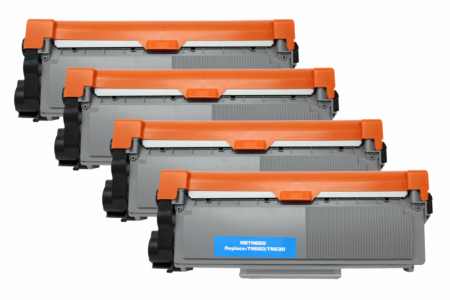 Premium Toner Cartridge Compatible with Brother TN-630/TN-660 (Black, 4 pack)