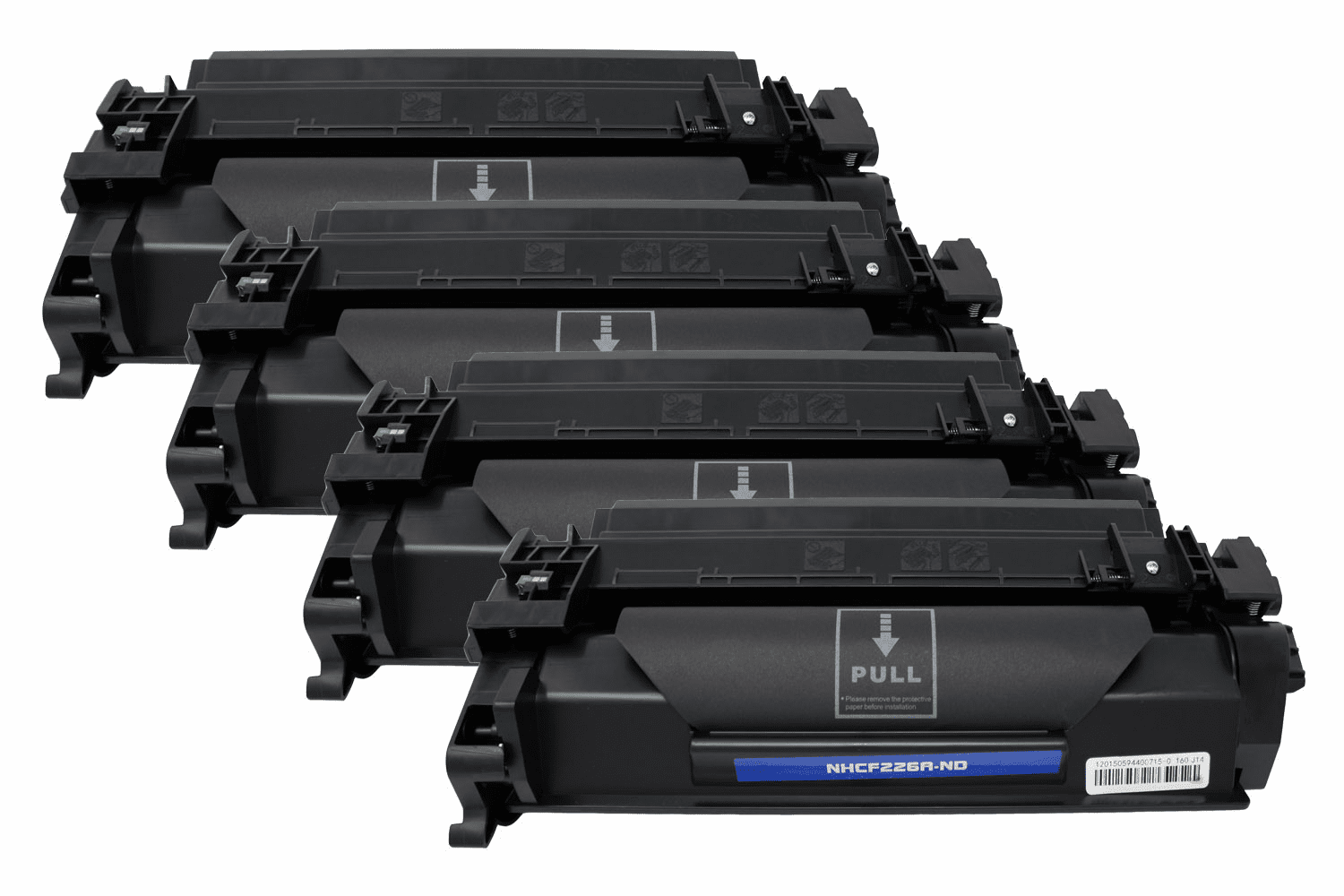 Premium Toner Cartridge Compatible with HP (HP 26A) CF226A (Black, 4 pack)