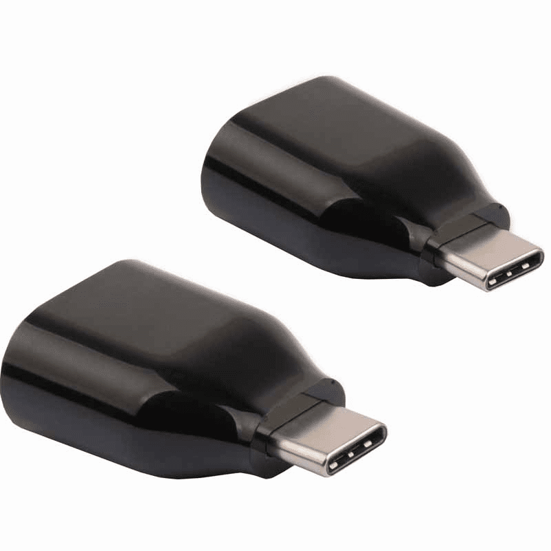 USB Type-C (Male) to USB 3.0-A (Female) Adapter - 2 Pack