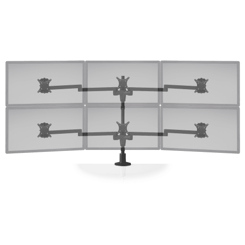 """3 MONITOR STAND MOUNTS 3-0VER-3. UP TO 30"""" MONITORS. ITEM #STX-33W"""
