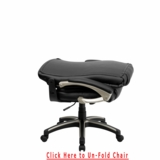 50% DISCOUNT + FREE SHIPPING + LUMBAR SUPPORT + FOLDING BACK + EXECUTIVE SWIVEL ARM CHAIR IN BLACK LEATHERSOFT. CLICK TO SEE BACK FOLD DOWN ONLY 49 LEFT. SALE ENDS 8-6-2021
