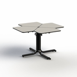 ADJUSTABLE HEIGHT DINING TABLE 4-PERSONS. WHEELCHAIR ACCESSIBLE. MODEL #BFL4-41.