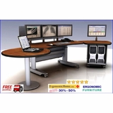 "Adjustable PACS Radiology Console Suite EHMT-SL-E-6-B (8' 5"" Wide)</font></b>"