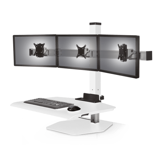 WINSTON TRIPLE MONITOR ARM SIT STAND WORKSTATION #WSTN-3-FS: